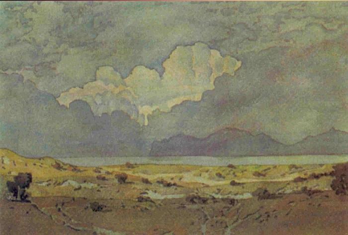 М. Волошин. Вечернее облако. Акварель. 1925 г.