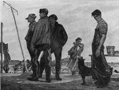 Аарон Исаакович Априль. На далёкой реке. Рыбаки Нарыма. Xолст, масло. 1962-1963 гг.