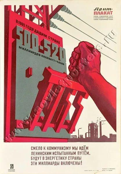 А. Мордовин «Производство электроэнергии». Плакат.