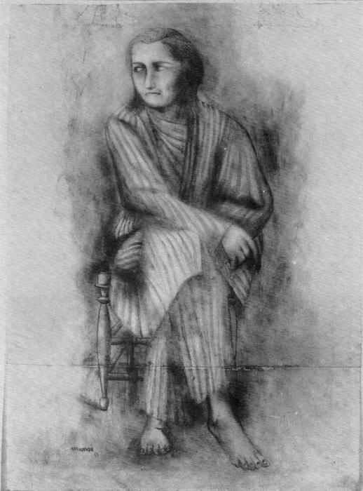 Дж. Манцу «Сидящая женщина» 1933 г.