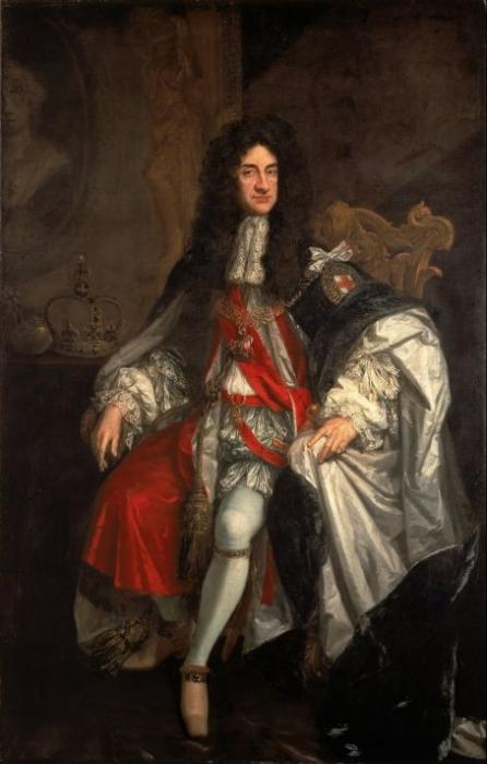 Годфри Неллер (1646-1723). Портрет Короля Карла II. Холст, масло. 244,8х144,2 см. Картинная Галерея Уолкер, Ливерпуль
