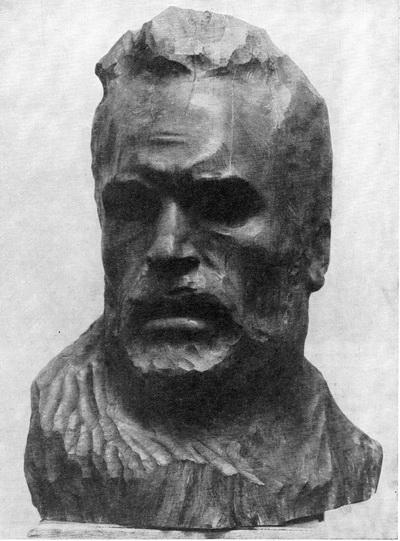 Г. Потапов. Портрет геолога Дашкевича. Дерево. 1962 г.