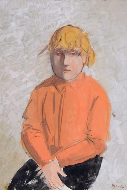 Дж. Манцу. «Милет»  1975 г.  Картон, гуашь. 71,5 x 51 см  Galleria d'Arte Maggiore, Болонья, Италия