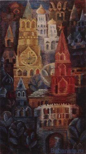 В Москве праздник.    Гобелен.   1977 год.