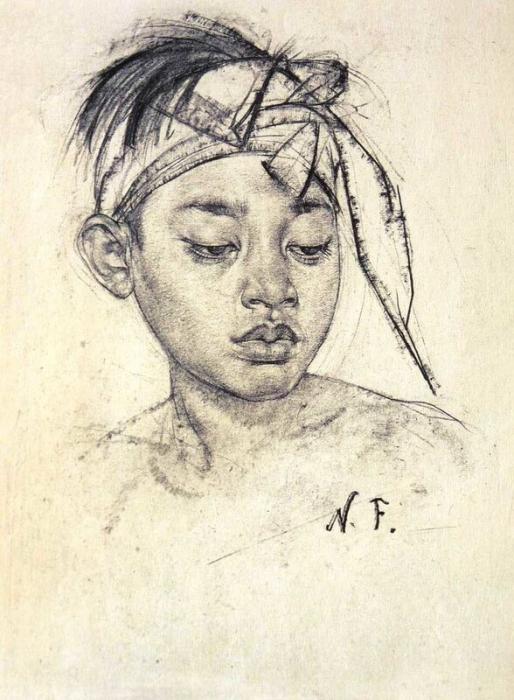 Мальчик с повязкой с острова Бали. После 1938 г.