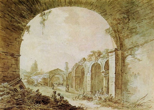 Жан Балтазар де ла Траверс  «Старый Крым»  1789 г. Бумага, акварель.