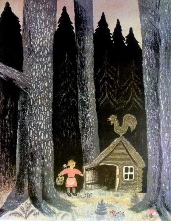 Юрий-Васнецов. Иллюстрация к сказке Л.Н. Толстого «Три медведя». 1935 г.