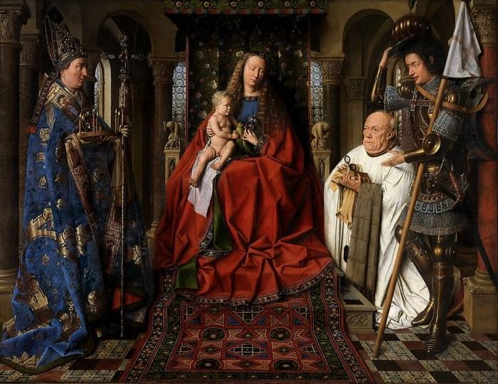 Ян ван Эйк. Мадонна каноника ван дер Пале. 1436 г. 122х158 см  Музей Грунинге, Брюгге.