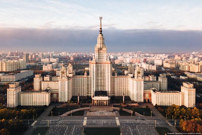Здание МГУ на Ленинских (Воробьёвых) горах