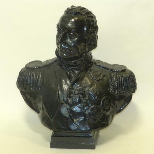 Кочуков Николай Сергеевич. Бюст М.И. Кутузова. Чугун, чеканка, покраска, литьё.
