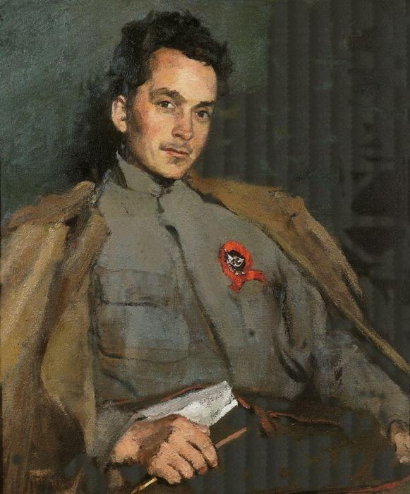 С.В. Малютин «Портрет Д.А. Фурманова»  Холст, масло. 1922 г.