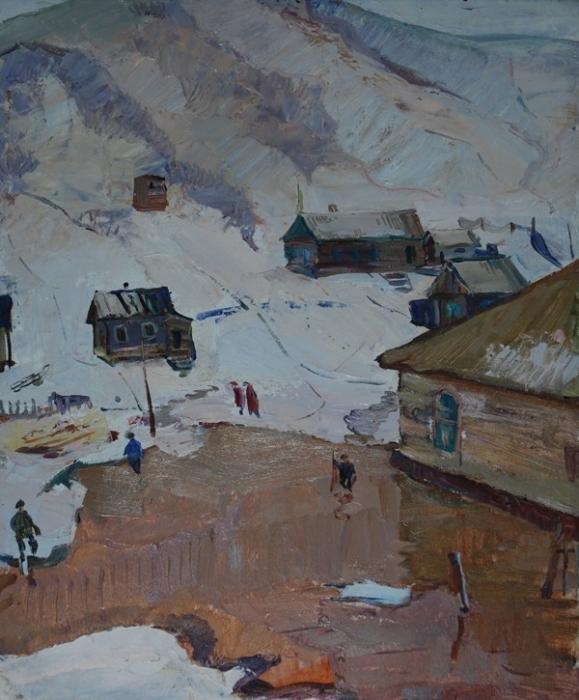 Фёдор Григорьевич Дьяков. Весна, Вывенка. 1968 г.