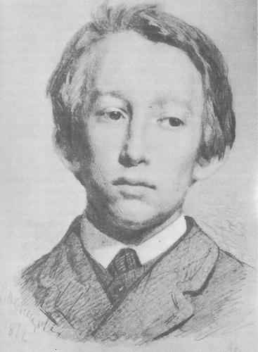 В. Васнецов «Автопортрет» Карандаш. 1872 г.
