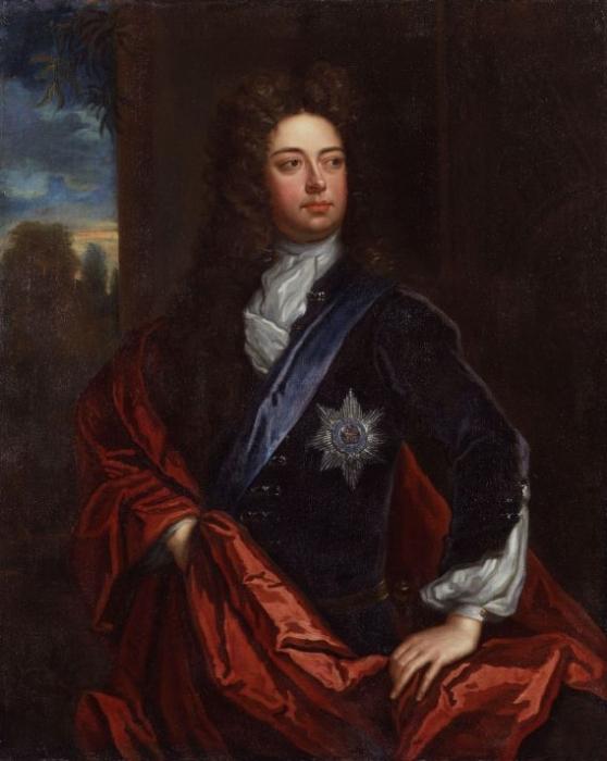 Годфри Неллер (1646-1723). Портрет Джона Черчилля, герцога Мальборо. (Предок Унстона Черчилля) Около 1723 г. Холст, масло. Национальная портретная галерея, Лондон.