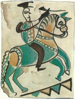 И. Иващенко «Всадник на коне». Ичня. Собрание А. Бокотея