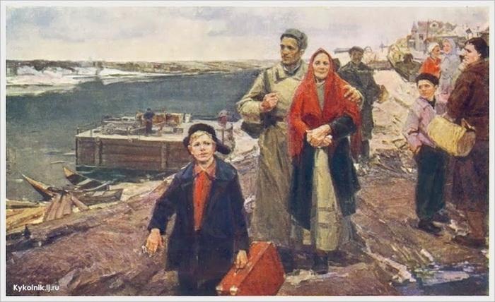 Злата Бызова. Возвращение. Xолст, масло. 1960 г.
