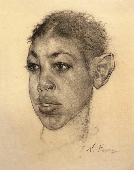 Портрет мальчика. 1930-1940-е годы.
