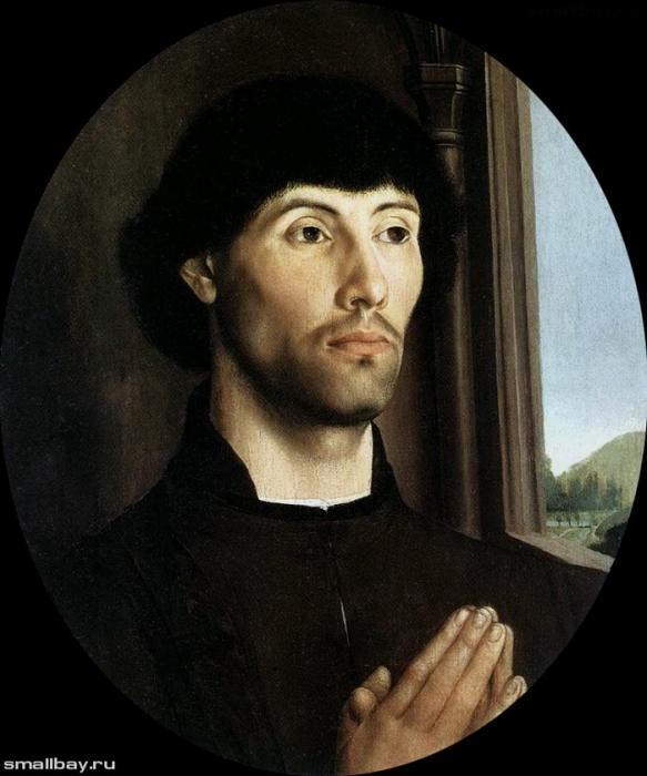 Гуго ван дер Гус. Портрет молодого человека. Музей Метрополитен, Нью-Йорк.
