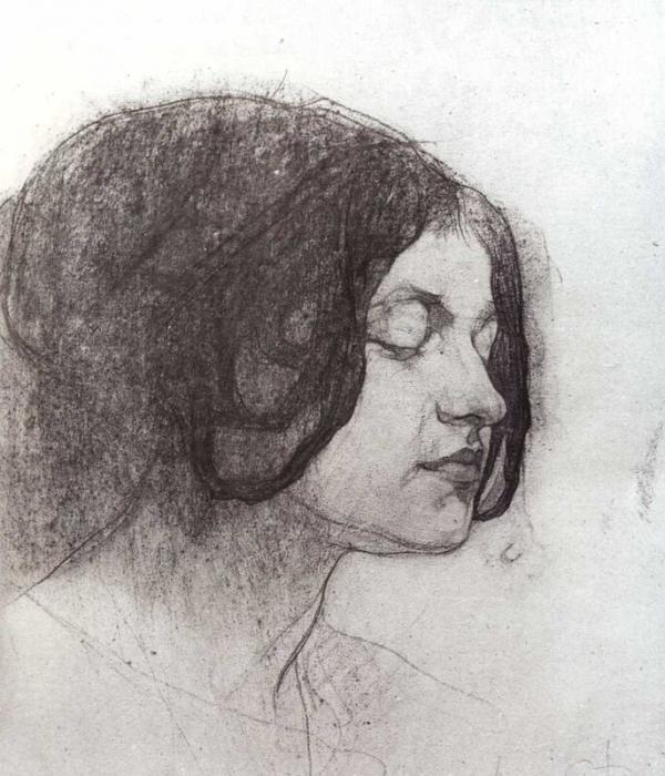 Женский портрет (Сидорченко). 1915 г.