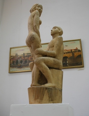 Маргарита Воскресенская «Двое» 1998 г.