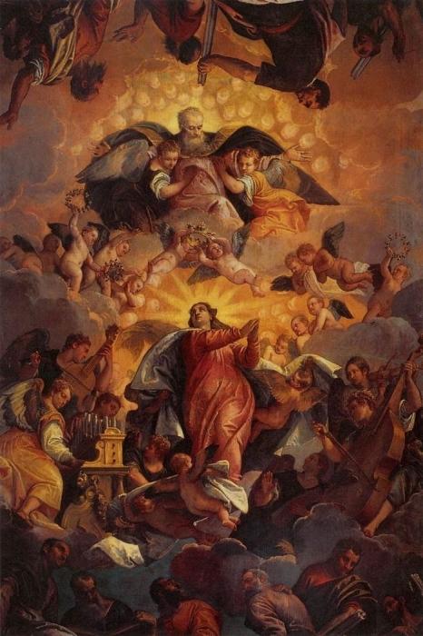 Паоло Веронезе. «Вознесение девы Марии» Масло. Около 1570 г.