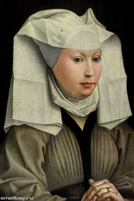Рогир ван дер Вейден. Молодая женщина. 1445 г. Картинная галерея, Берлин.