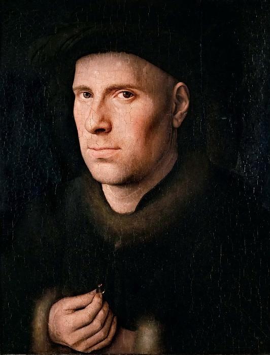 Ян ван Эйк.  Ян де Леув. 1436 г. 24х19 см  Художественно-исторический музей, Вена.