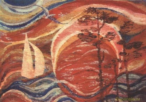 Солнце и море.  Гобелен.   1974 год.