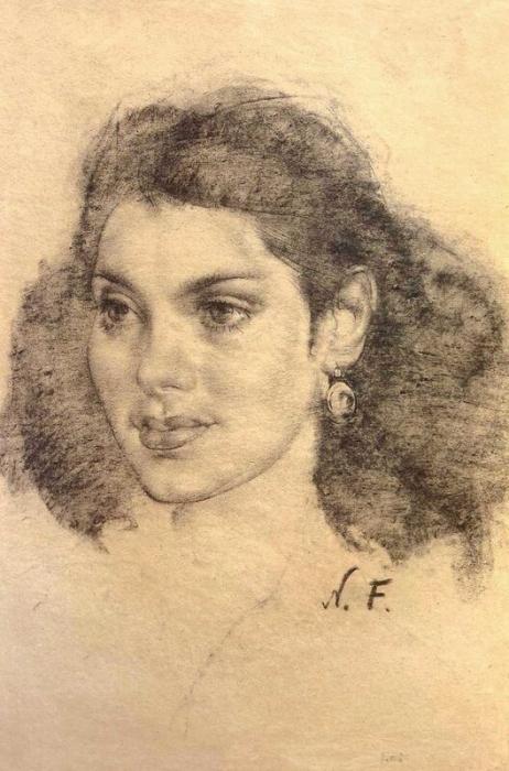 Мексиканская девушка. 1930-1940-е годы.