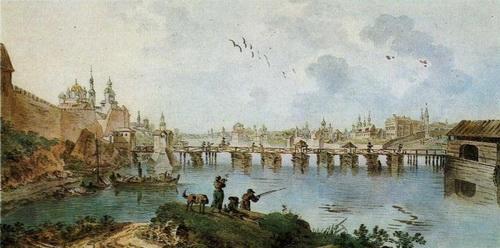 Жан Балтазар де ла Траверс  «Вид Новгорода»  1780-е годы