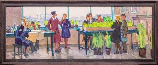 Г.Н. Крапивин Эскиз к картине «Урок»  1970-е годы