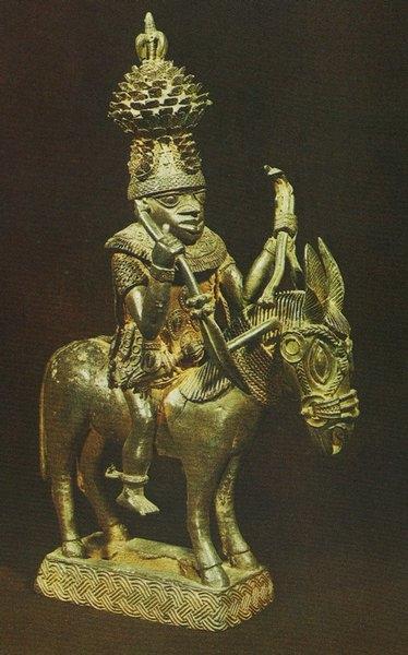 Всадник. Бенин. Бронза. Лагос, Национальный музей.