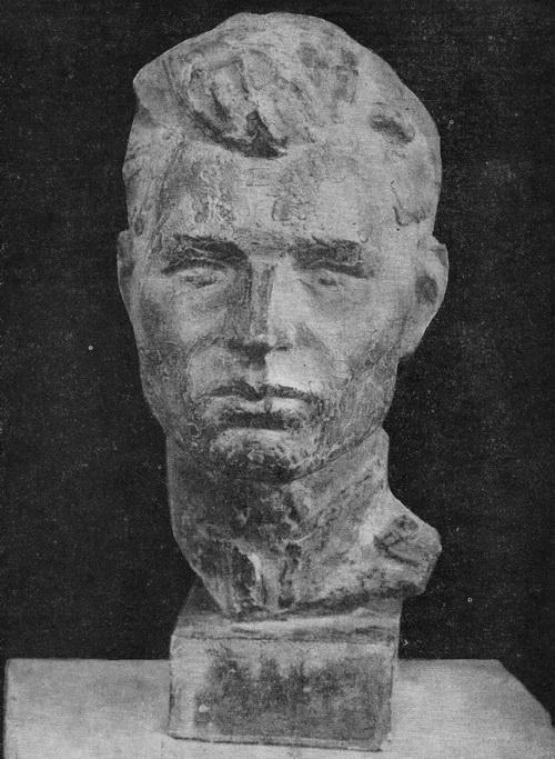 Николай Пантелеевич Борисов. Солдат. Тонированный гипс. 1964 г.