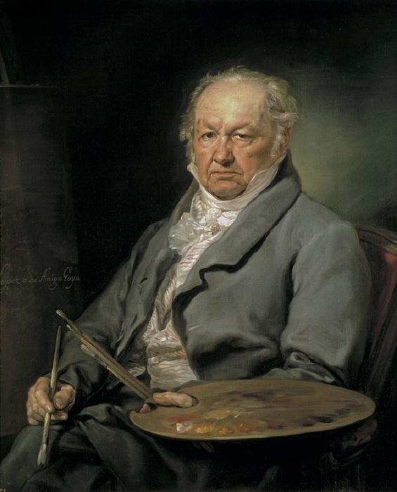 Портрет Франсиско Гойи кисти Висенте Лопес-и-Портаньи. 1826 г.