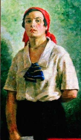 Георгий Ряжский «Делегатка» Холст, масло. 1927 г.
