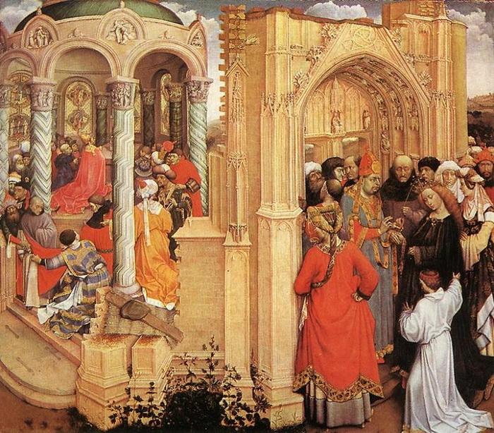 Робер Кампен. Обручение Девы Марии.