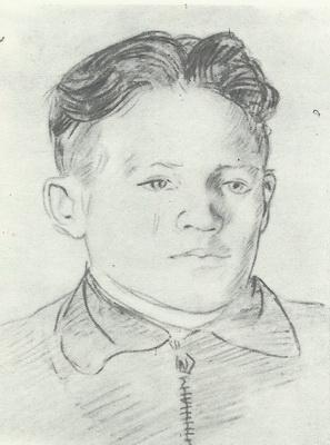Б. Юдин  «Портрет Широкова»  Карандаш.  1938 г.