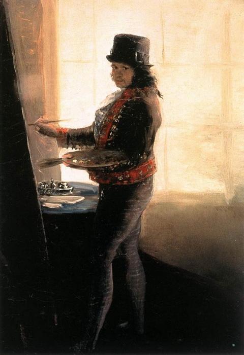 Франсиско Гойя. «Автопортрет в студии» 1795 г.