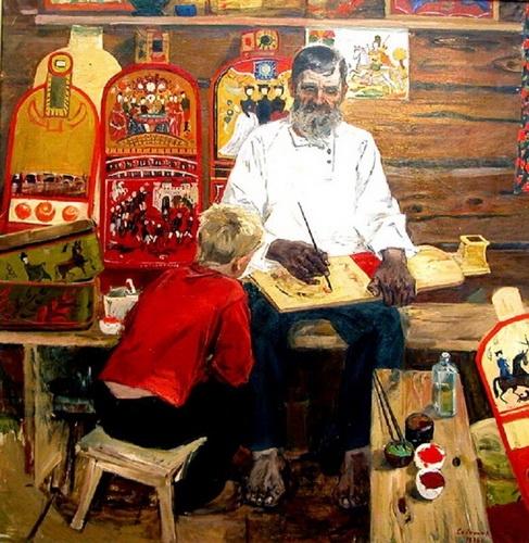 Сайкина Александра Васильевна  «Гаврила Поляков — мастер городецкой росписи» 1975 г.