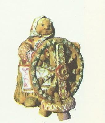 Зоя Воропаева, 15 лет. Пряха. Глиняная игрушка.