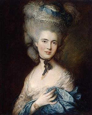 Томас Гейнсборо «Дама в голубом» холст, масло. 76 × 64 см, около 1780 г.  Государственный Эрмитаж, Санкт-Петербург
