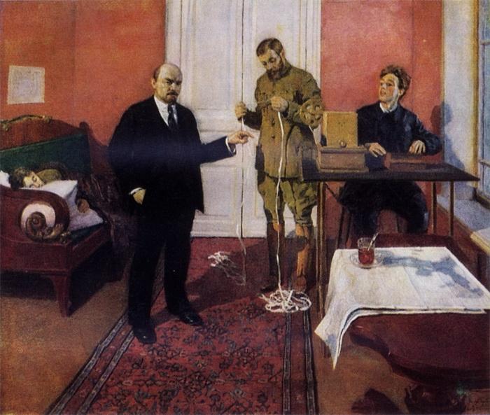 И.Э. Грабарь «Ленин у прямого провода»