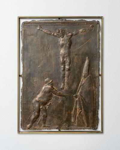 Дж. Манцу. Из серии барельефов, посвящённых страстям Иисуса.  1939 г.