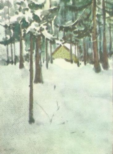 Б. Юдин  «Осень»  Акварель, 1938 г.