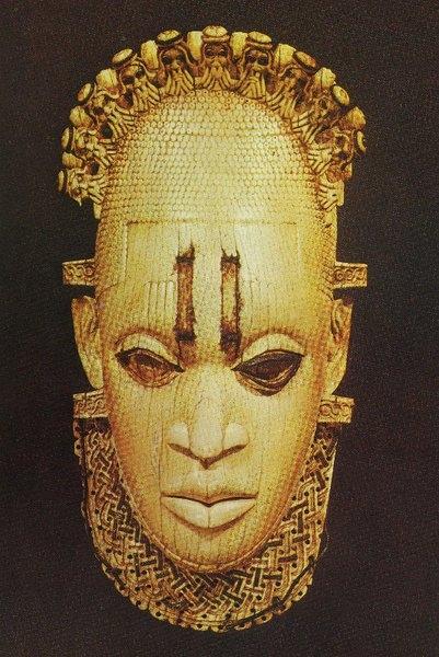 Маска-подвесок. Бенин. Слоновая кость. Лондон, Британский музей.