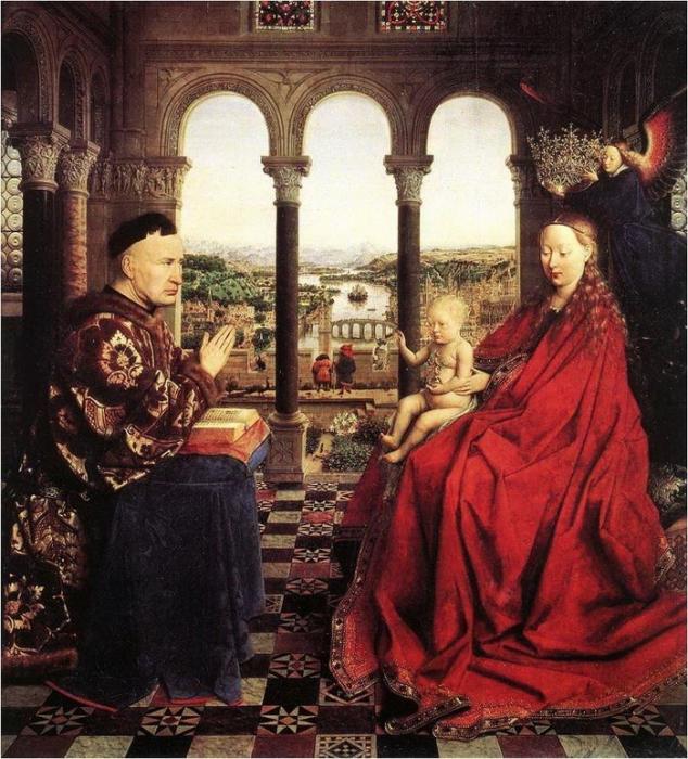 Ян ван Эйк. «Мадонна канцлера Ролена», 1436 г.