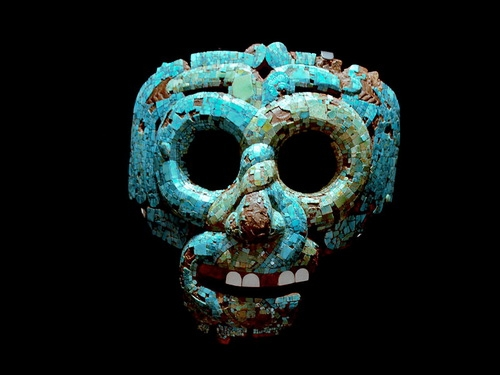 Бирюзовая маска Кецалькоатля. Ацтеки XV век.