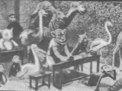 В. Старевич. Кадр из мультфильма «Занзабелла в Париже». Начало 20-х годов.
