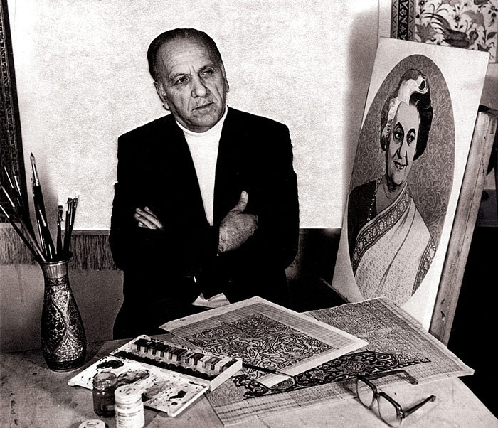Основоположник портретного жанра в азербайджанском ковроткачестве, Народный художник Азербайджанской ССР Кямиль Мусеибович Алиев