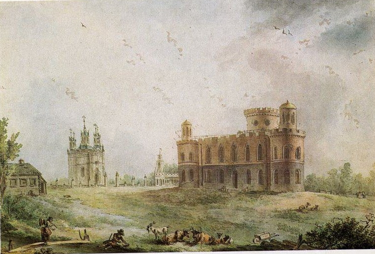 Жан Балтазар де ла Траверс  «Чесменский дворец близ Петербурга»  1780-е гг. Собрание И.С. Зильберштейна.